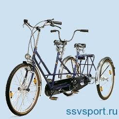 трехколесный велосипед тандем